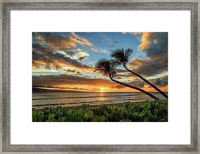 Framed Print featuring the photograph Sunset In Kaanapali by James Eddy