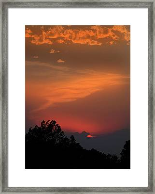 Sunset In Kansas Framed Print