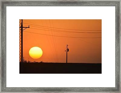 Sunset In Kansas Framed Print