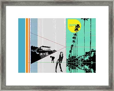 Sunset In La Framed Print by Naxart Studio