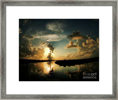Sunset In Lacombe, La Framed Print