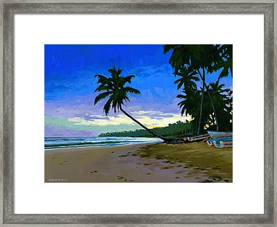 Sunset In Las Terrenas Framed Print by Douglas Simonson
