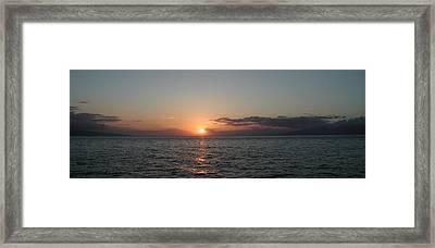 Sunset In Maui Framed Print by Bj Hodges