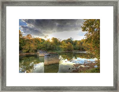 Framed Print featuring the digital art Sunset In Murphy by Sharon Batdorf