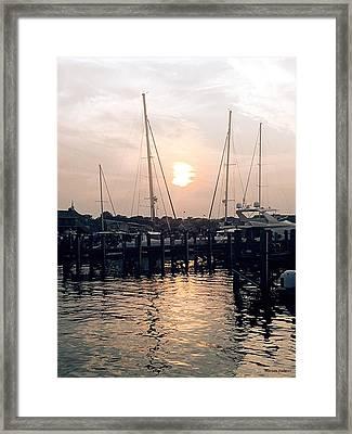 Sunset In Nantucket Framed Print