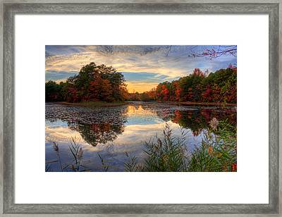 Lake Sunset In New Jersey Framed Print by Kevin Hill