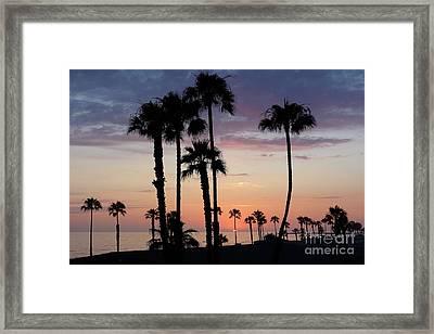 Sunset In Oceanside Framed Print