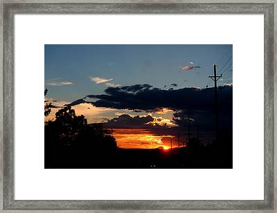 Framed Print featuring the photograph Sunset In Oil Santa Fe New Mexico by Diana Mary Sharpton
