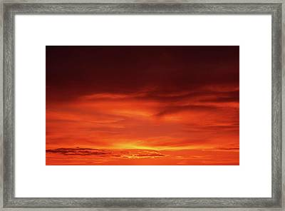 Framed Print featuring the photograph Sunset In Orange by Edward R Wisell