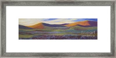 Sunset In Orange Framed Print by Lucinda  Hansen