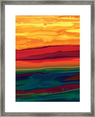 Sunset In Ottawa Valley 1 Framed Print by Rabi Khan