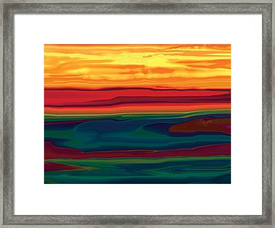 Sunset In Ottawa Valley Framed Print by Rabi Khan