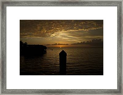 Sunset In Paradise Framed Print by Christin Walton