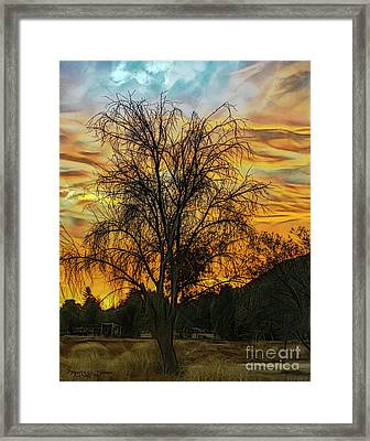 Sunset In Perris Framed Print