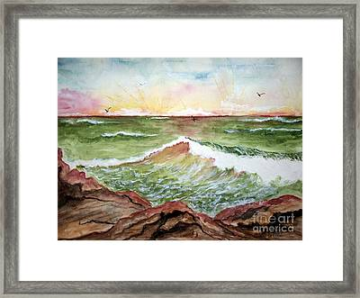 Sunset In Pink Framed Print by Carol Grimes