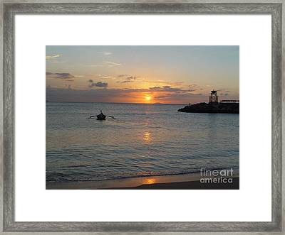 Sunset In Puerto Rico Framed Print by Patty Vicknair
