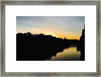 Sunset In Rome Framed Print