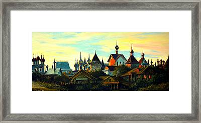Sunset In Rostov Framed Print