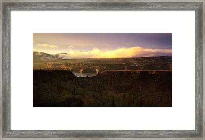 Sunset In Rowena Framed Print