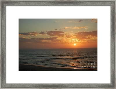 Sunset In Santa Cruz Framed Print