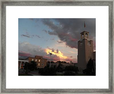 Sunset In Santa Fe Framed Print