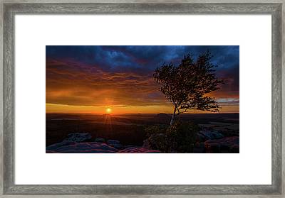 Sunset In Saxonian Switzerland Framed Print