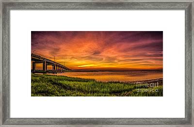 Sunset In Sea Isle City Framed Print by Nick Zelinsky