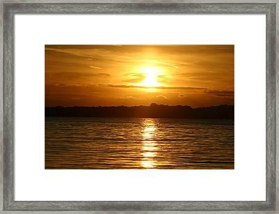 Sunset In Shelter Island  Framed Print by Matthew Kennedy