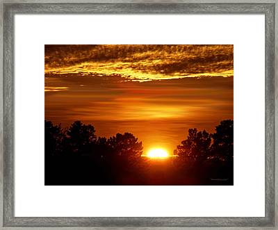 Sunset In Sonoma County Framed Print
