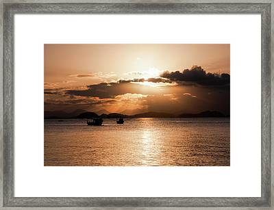 Sunset In Southern Brazil Framed Print