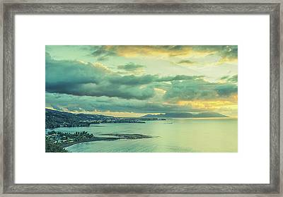 Framed Print featuring the photograph Sunset In Tahiti by Gary Slawsky