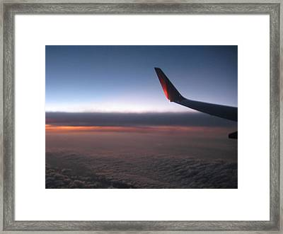 Sunset In The Air Framed Print by Renee Antos