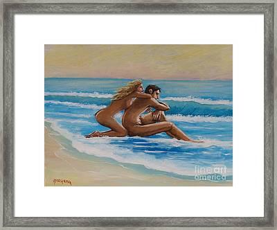 Sunset In The Beach Framed Print