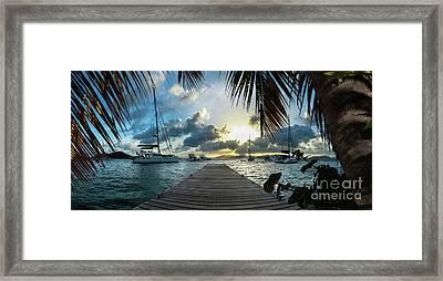 Sunset In The Bvi Framed Print