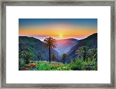 Sunset In The Canary Islands Framed Print by JR Photography