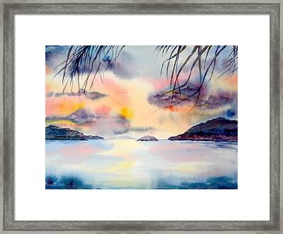 Sunset In The Caribbean Framed Print