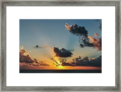 Sunset In The Caribbean Sea Framed Print