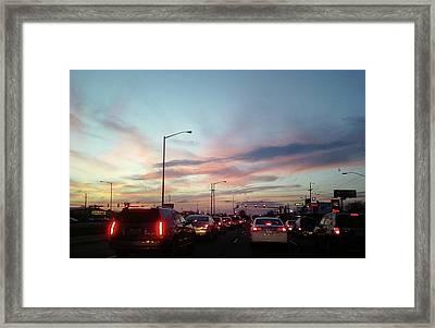 Sunset In The City 2 Framed Print