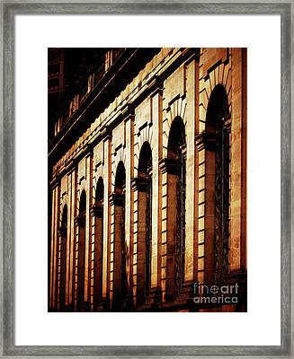 Framed Print featuring the photograph Sunset In The City by Baggieoldboy