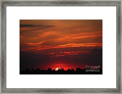 Sunset In The City Framed Print by Mariola Bitner