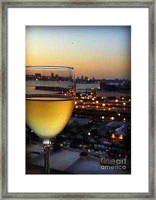 Sunset In The City Framed Print by Miriam Danar