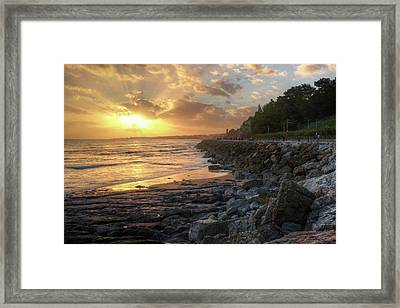 Framed Print featuring the photograph Sunset In The Coast by Carlos Caetano