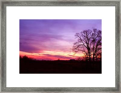 Sunset In The Country Framed Print by Amanda Kiplinger