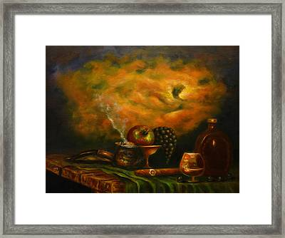 Sunset In The Country Framed Print by MM Zurahov