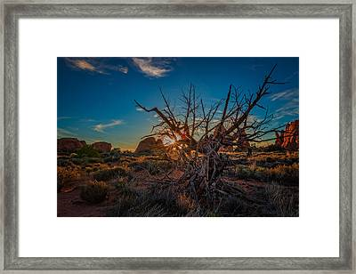 Sunset In The Devil's Garden Framed Print
