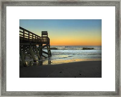 Framed Print featuring the photograph Sunset In The East by Linda Olsen