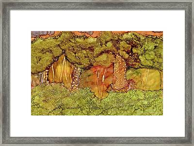 Sunset In The Forest Framed Print