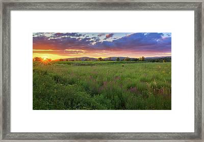 Sunset In The Hills 2017 Framed Print