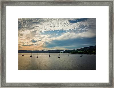 Sunset In The Hudson Valley Framed Print