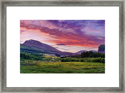 Framed Print featuring the photograph Sunset In The Meadow by Dmytro Korol
